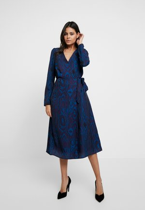 MIDNIGHT WRAP DRESS - Denní šaty - dark blue