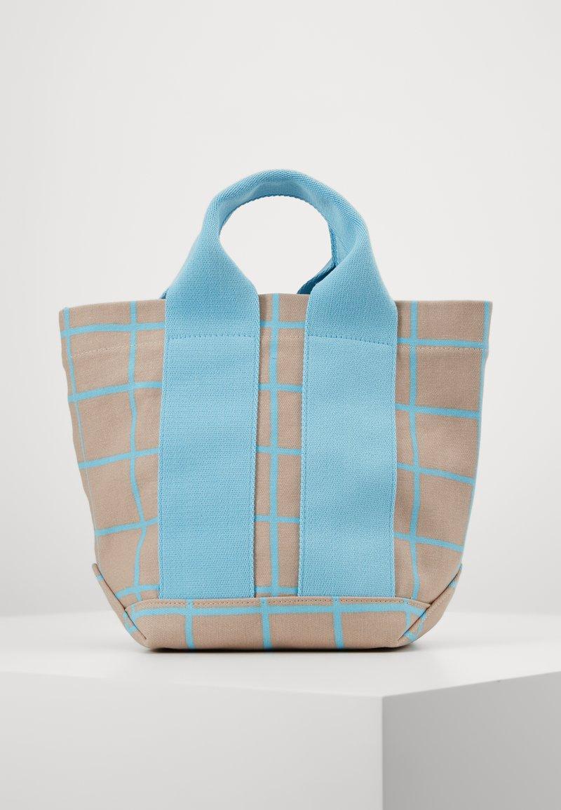 Marimekko - ILTA ISO RUUTU BAG - Sac à main - beige/turquoise
