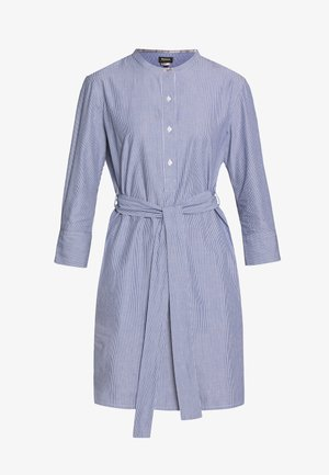 LUCIE DRESS - Shirt dress - navy/white