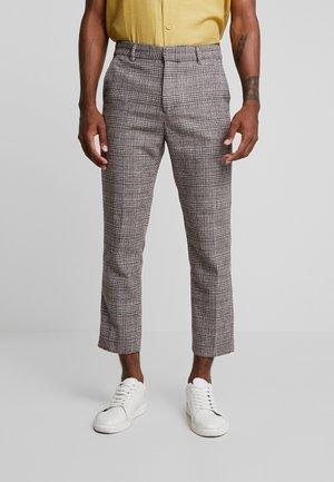 CHARLIE CHECK TROUSER - Spodnie materiałowe - beige