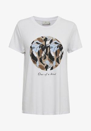 KAKISA - T-shirt print - optical white