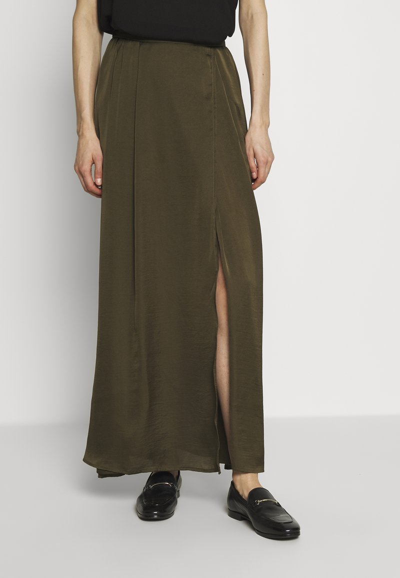 NAF NAF - HELENE - Maxi sukně - new kaki