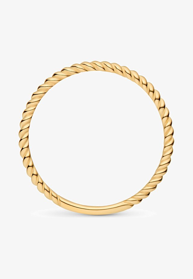 TWISTED - Ring - gelbgold