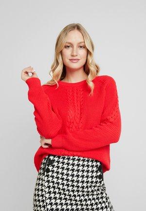 VALARY - Sweter - red alert