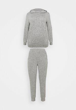 PRETTY SECRETS HOODED LOUNGE  - Pyjamas - charcoal marl
