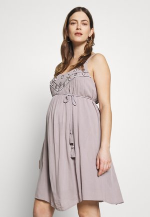 PALACE OF WINDS - Jersey dress - light grey