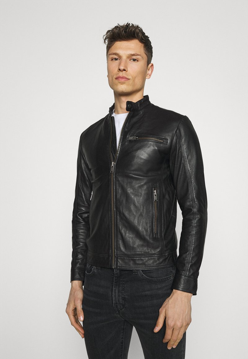 Selected Homme - SLHICONIC CLASSIC - Giacca di pelle - black