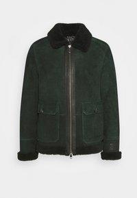 Leather jacket - fern