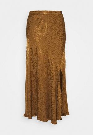 FINULA SKIRT - Áčková sukně - golden olive