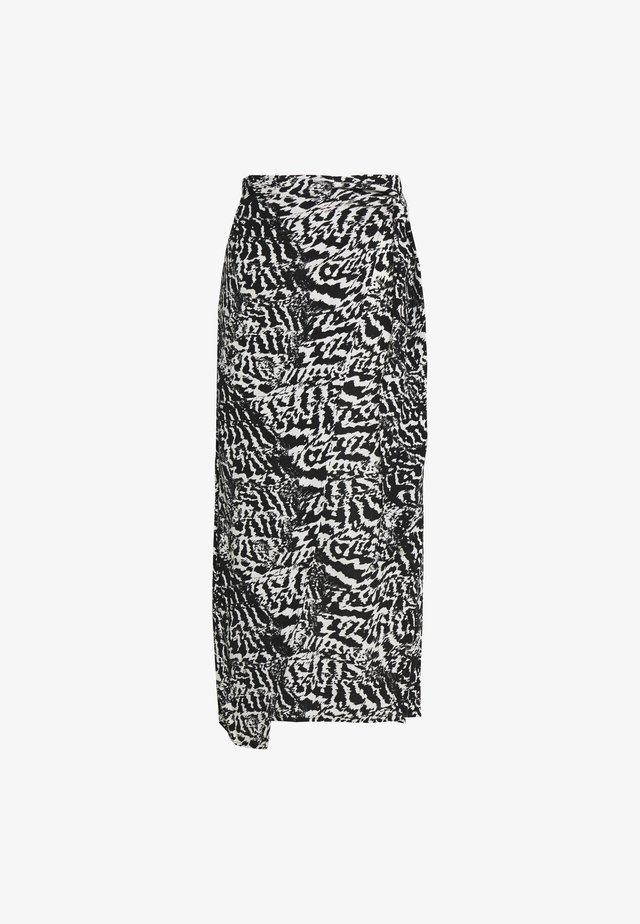MONO ANIMAL SARONG - Spódnica trapezowa - monochrome