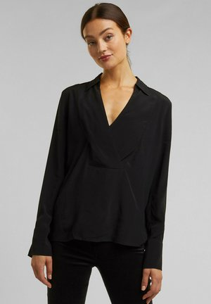 BLOUSE - Long sleeved top - black