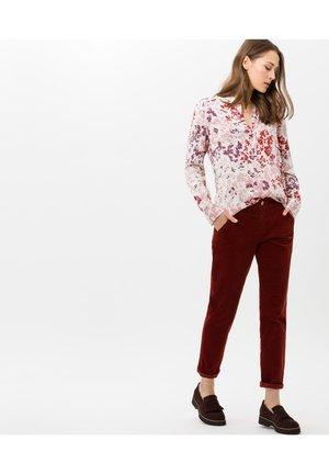 STYLE VELVET - Button-down blouse - mauve