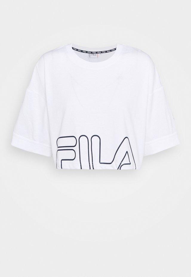 LAMIA - T-shirt imprimé - bright white