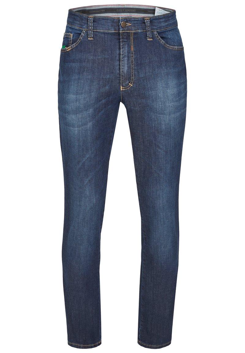 Club of Comfort - MIT HIGH-STRETCH - Slim fit jeans - mittelblau 142