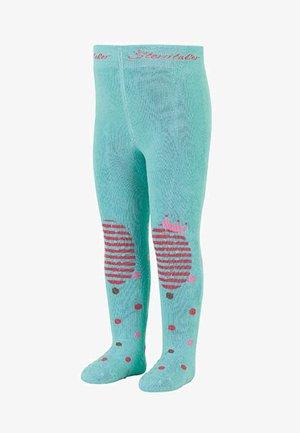 KRABBELSTRUMPFHOSEN WINTER PRINZESSIN - Leggings - Stockings - helltürkis