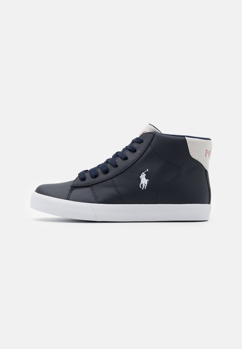 Polo Ralph Lauren - THERON III MID - High-top trainers - navy/light grey/white