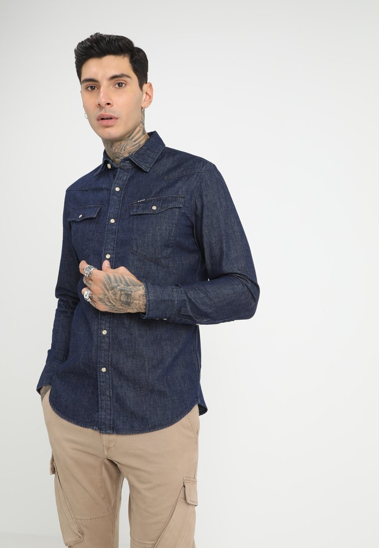 G-Star - 3301 SLIM - Shirt - rinsed