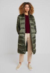 Cream - GAIAGRO LONG - Winter coat - forest night - 0