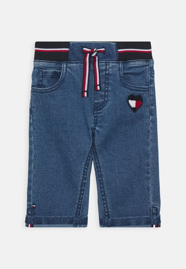 BABY GIRL FLAG PANTS - Džíny Slim Fit - denim