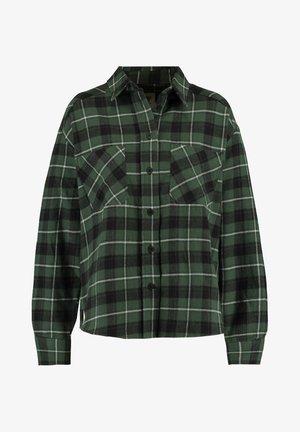 BOBBY - Button-down blouse - black/green