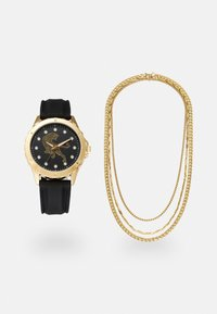 Pier One - WATCH NECKLACES GIFT SET - Horloge - black/gold-coloured - 0