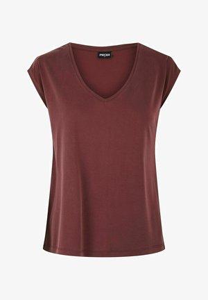 PCKAMALA TEE NOOS BC - Basic T-shirt - red mahogany