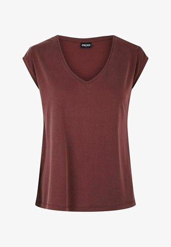 PCKAMALA TEE NOOS BC - Camiseta básica - red mahogany