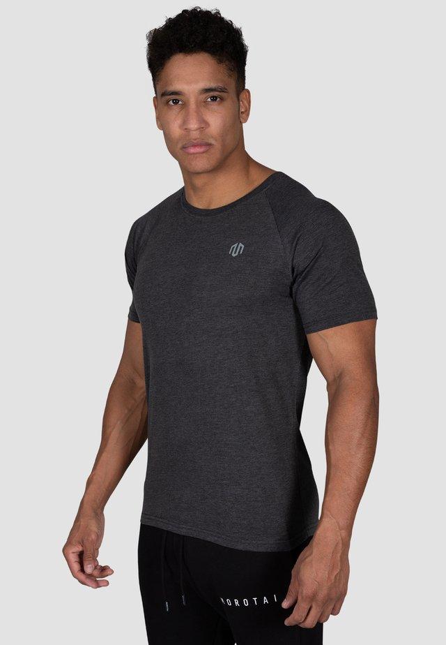 Print T-shirt - dunkel grau