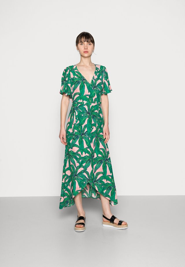 ARCHANA SLEEVE DRESS - Maxi dress - lovely pink/emerald