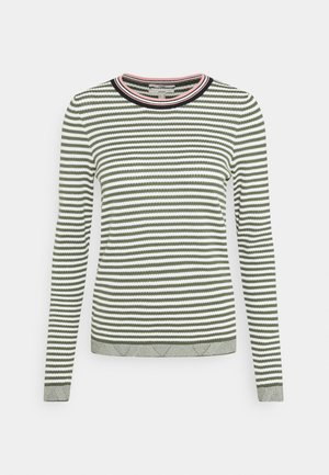 STRIPED - Strikkegenser - light khaki