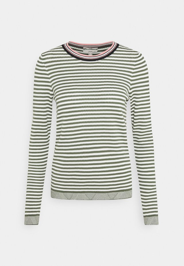 STRIPED - Strikpullover /Striktrøjer - light khaki