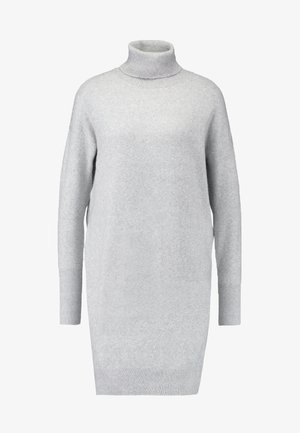 VMBRILLIANT ROLLNECK DRESS  - Gebreide jurk - light grey melange