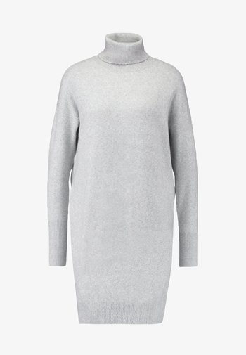 VMBRILLIANT ROLLNECK DRESS  - Jumper dress - light grey melange
