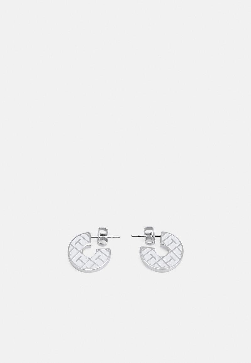 Tommy Hilfiger - TOKEN - Pendientes - silver-coloured