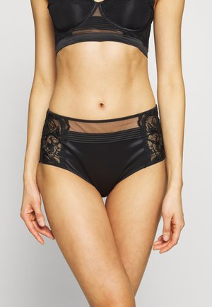 SPRING ROSE HIGH WAIST HIPSTER - Briefs - black