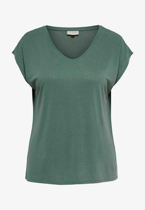 CURVY V-AUSSCHNITT - Basic T-shirt - balsam green