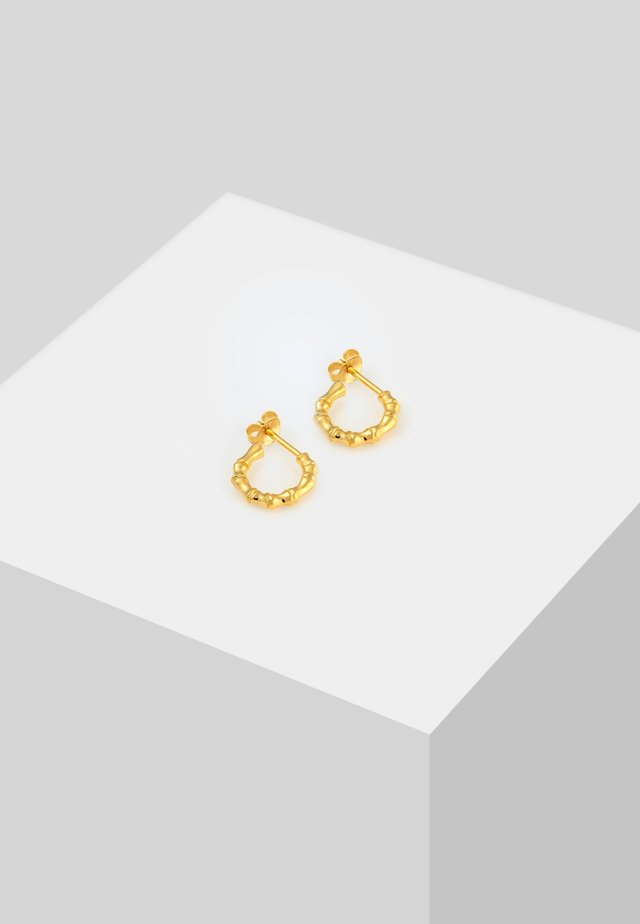 CREOLEN BAMBUS  - Earrings - gold-coloured