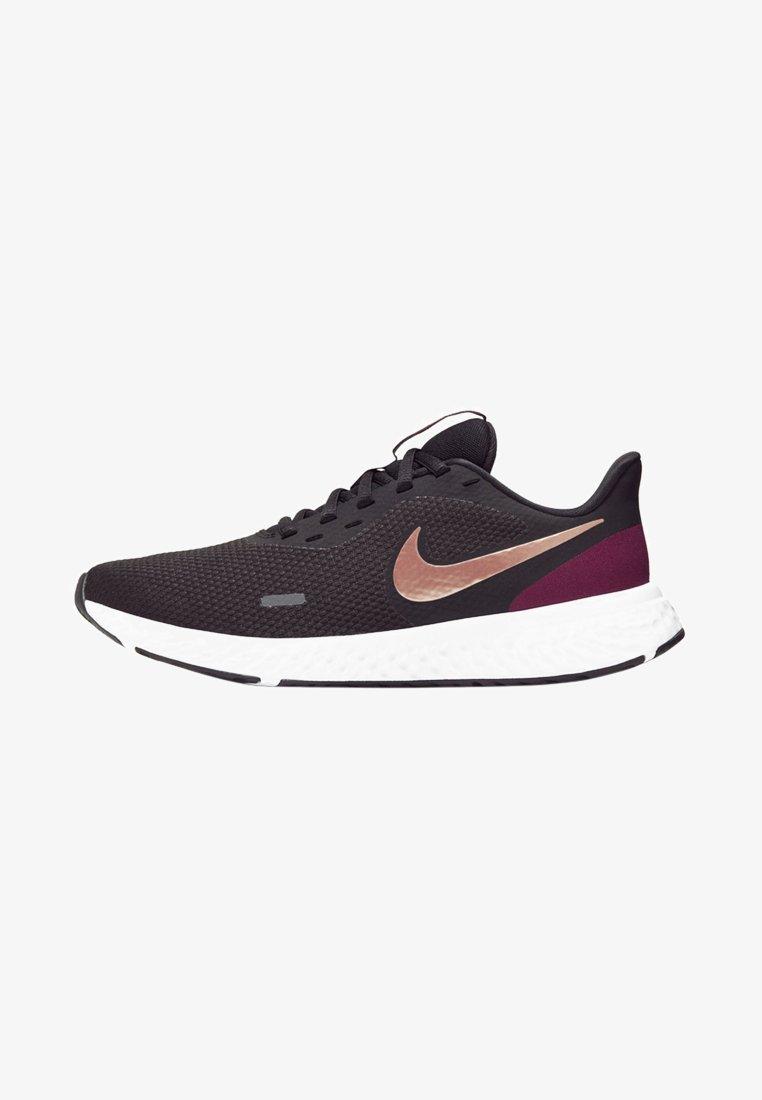 Nike Performance - REVOLUTION 5 - Neutral running shoes - black/night maroon/metallic copper