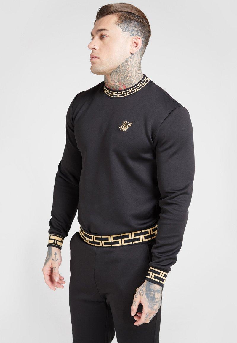 SIKSILK - CHAIN - Maglietta a manica lunga - black/gold