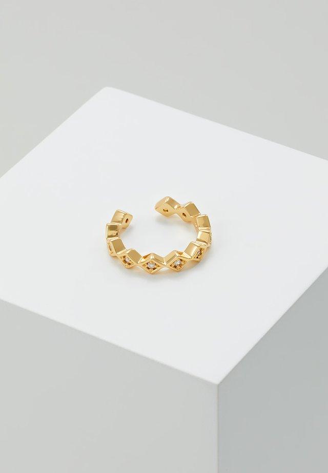 SHAPE SINGLE EAR CUFF - Kolczyki - gold-coloured