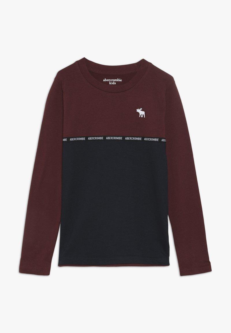 Abercrombie & Fitch - SLEEVETAPE - Långärmad tröja - burg