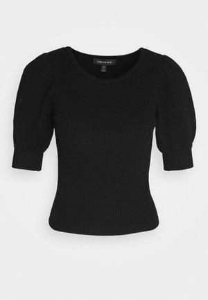 STRUCTURED PUFF SLEEVE - Print T-shirt - black