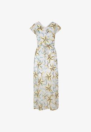 MIT TUNNELZUG - Maxi dress - white flowers & dots