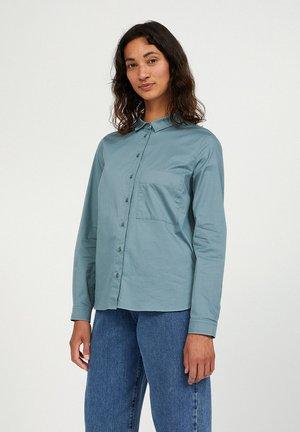 PERNILLAA - Button-down blouse - soft moss
