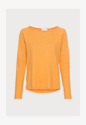 Long sleeved top - golden orange