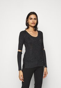 Patrizia Pepe - CUT OUT TOP - Jumper - nero - 0