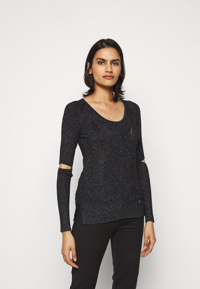 CUT OUT TOP - Pullover - nero