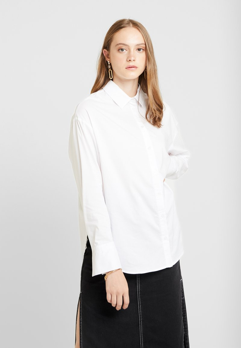 Gina Tricot - MISSY - Button-down blouse - offwhite