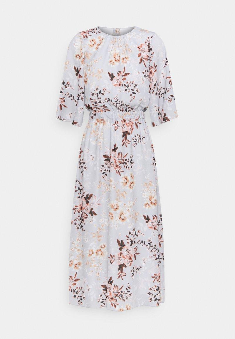 True Violet Petite - SLEEVE FIT AND FLARE DRESS - Denní šaty - grey