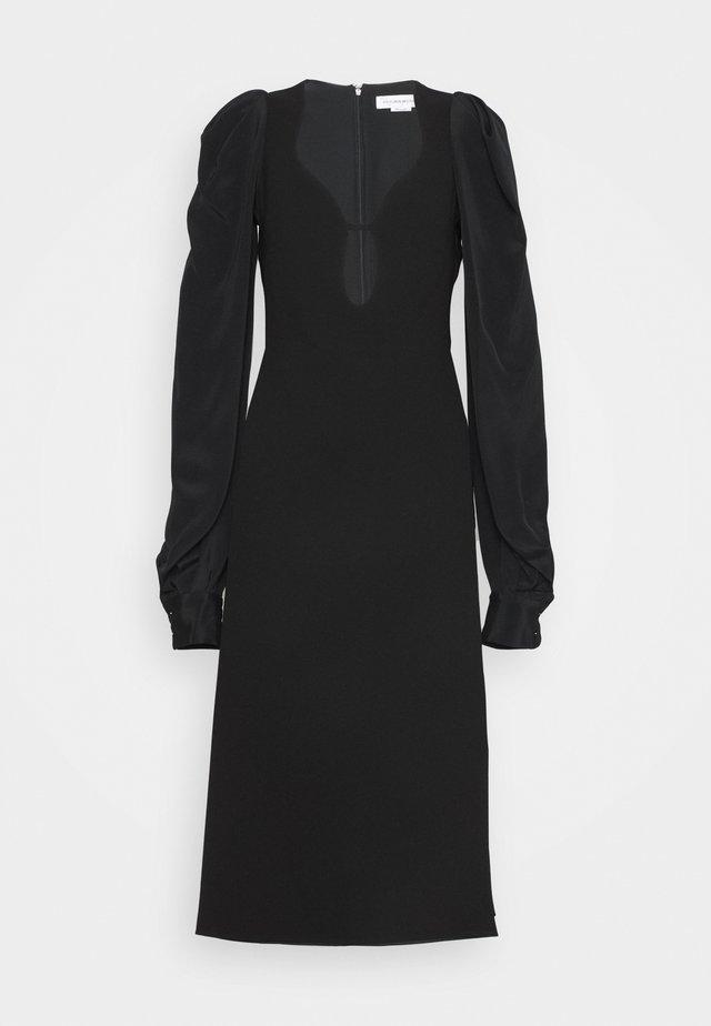 LONG SLEEVE KEYHOLE MIDI - Cocktail dress / Party dress - black